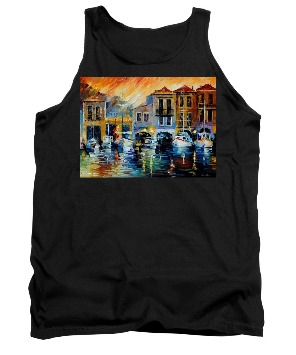 Afremov Tank Top featuring the painting After A Day's Work by Leonid Afremov