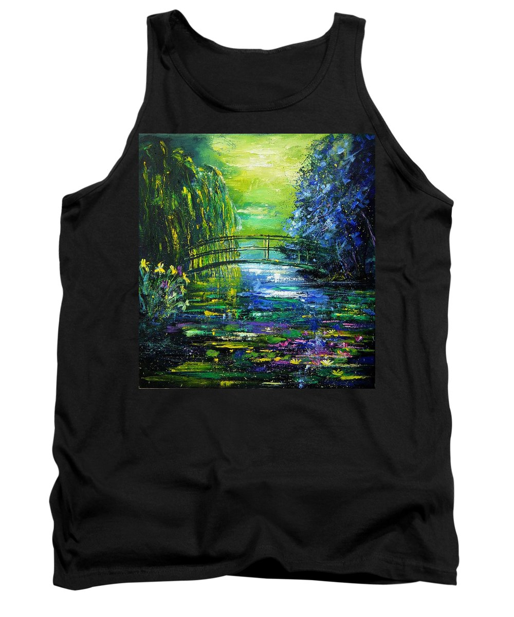 Pond Tank Top featuring the painting After Monet by Pol Ledent