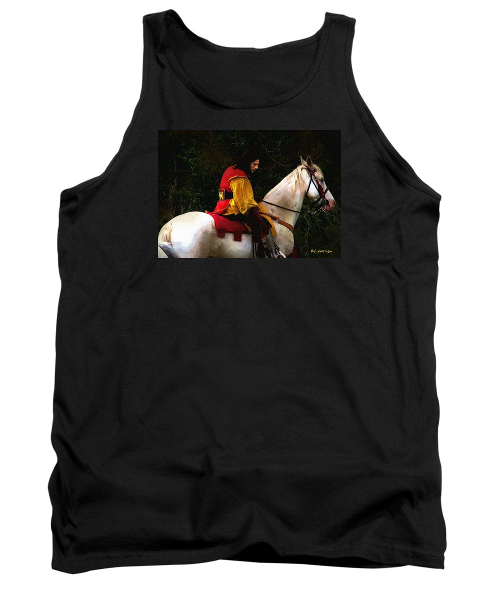 Horse Tank Top featuring the painting After The Battle by RC DeWinter