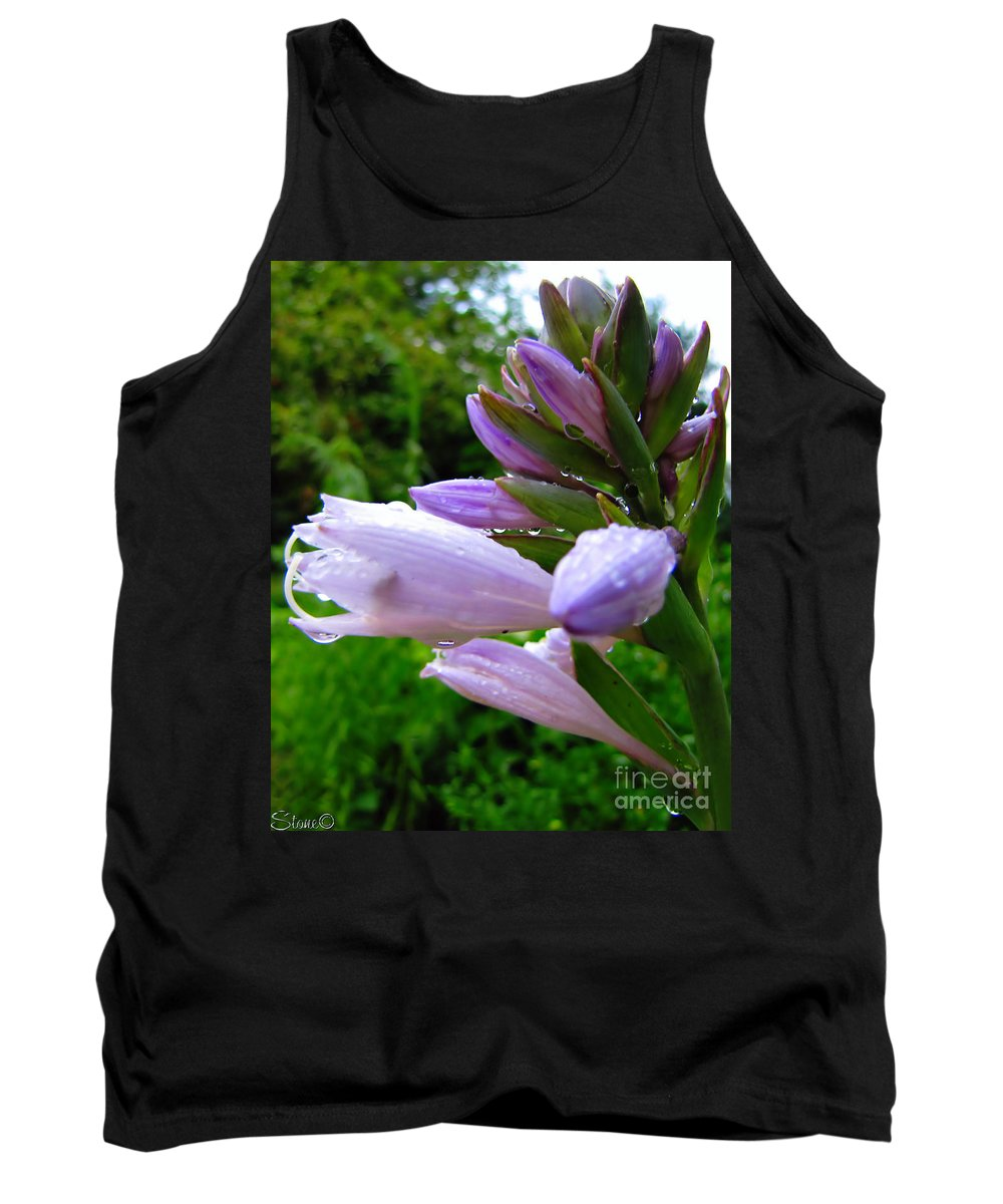 Hosta Tank Top featuring the photograph After The Rain by September Stone