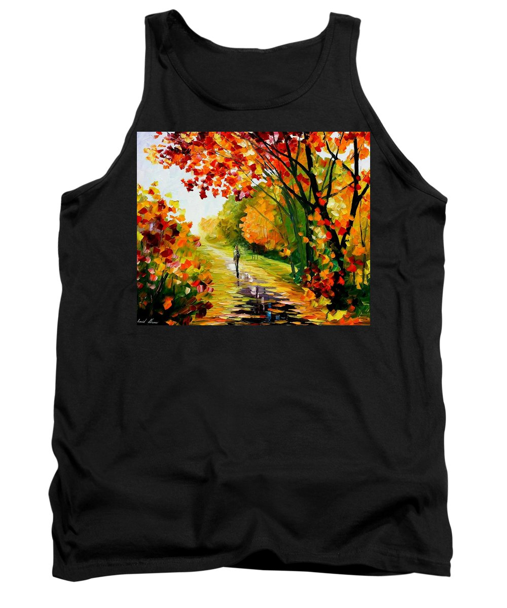 Afremov Tank Top featuring the painting After The Rain by Leonid Afremov