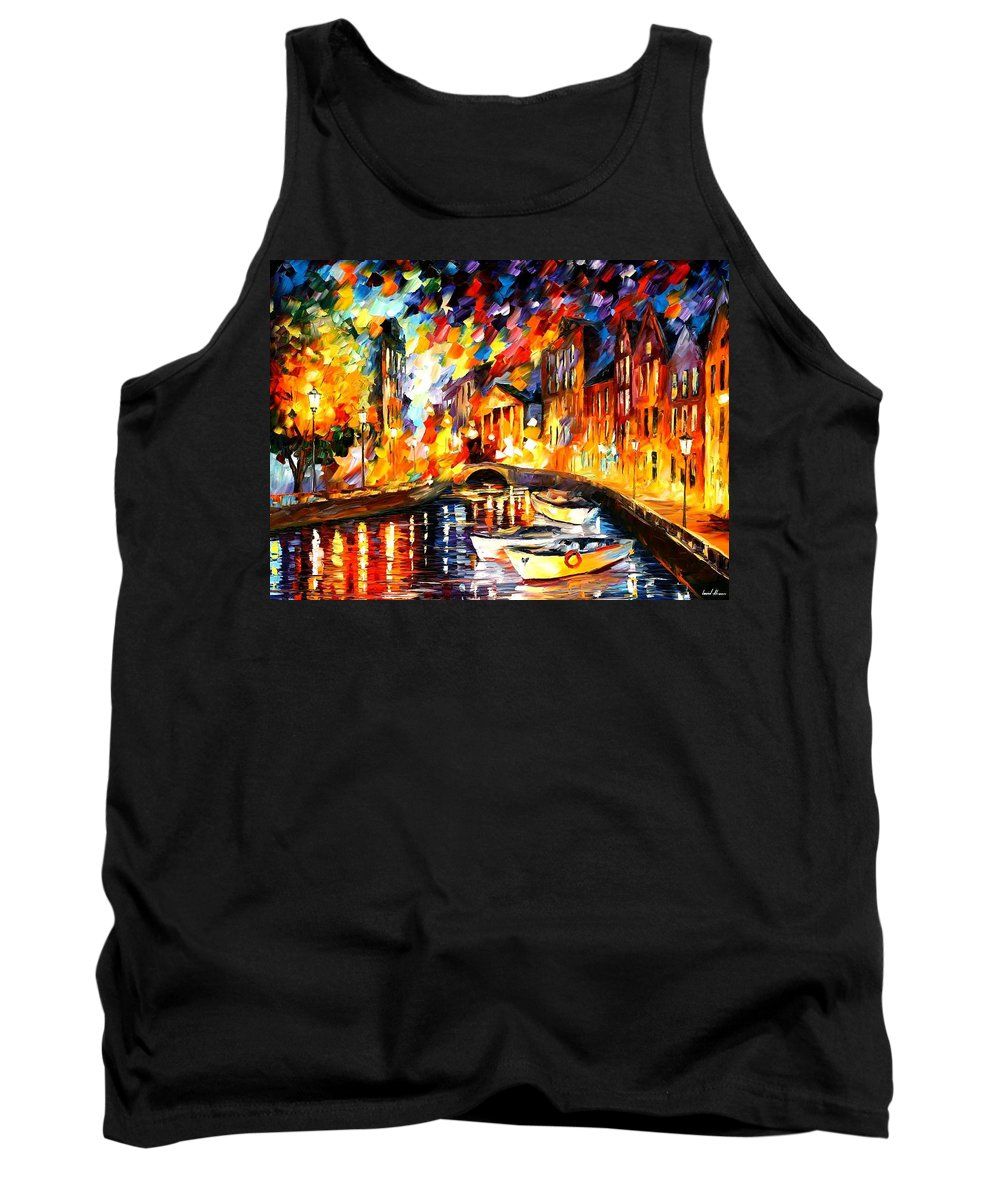 Afremov Tank Top featuring the painting After The River Turns by Leonid Afremov