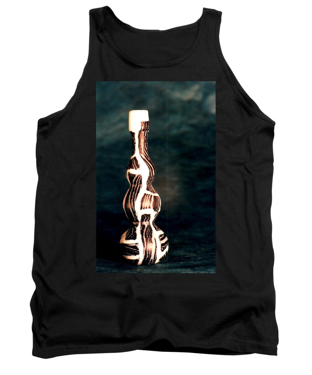 Ceramic Tank Top featuring the photograph Agate Ceramic Bottle by Catt Kyriacou