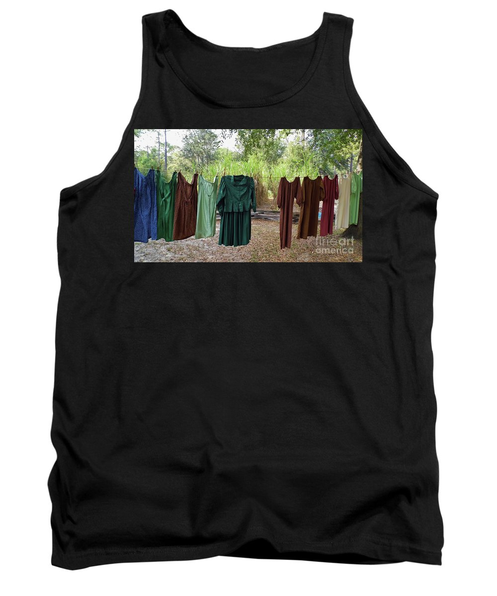 Laundry Tank Top featuring the photograph Air Dried Laundry by D Hackett