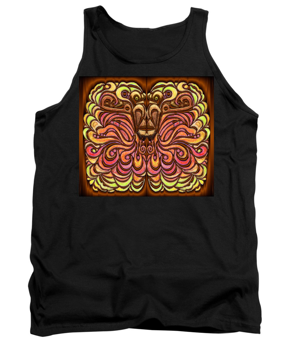 Lion Mane Tank Top featuring the digital art Al Borof The Mane by Mark Sellers