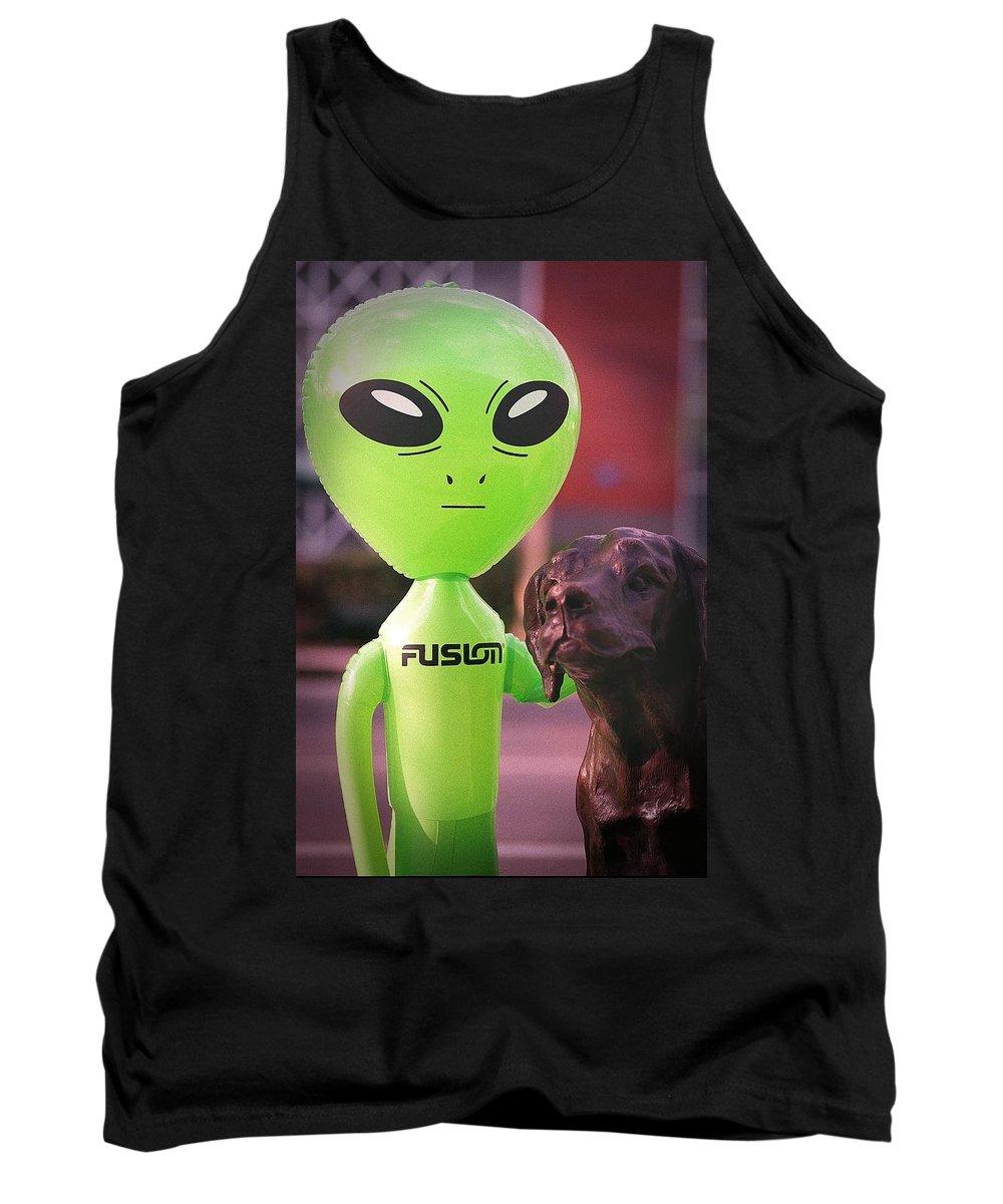 Alien Tank Top featuring the photograph Alien's Best Friend by Richard Henne