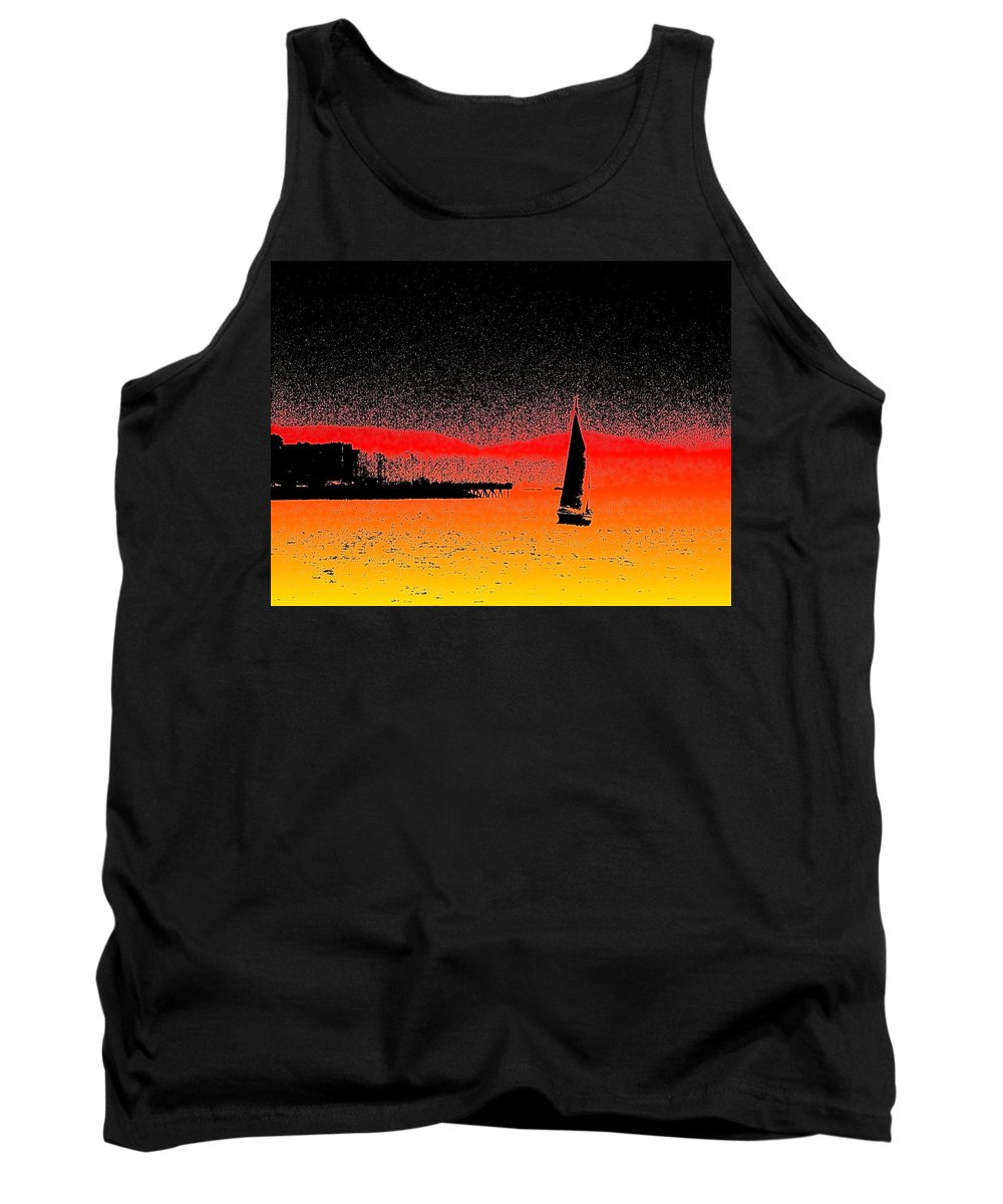 Seattle Tank Top featuring the photograph Alki Sail by Tim Allen