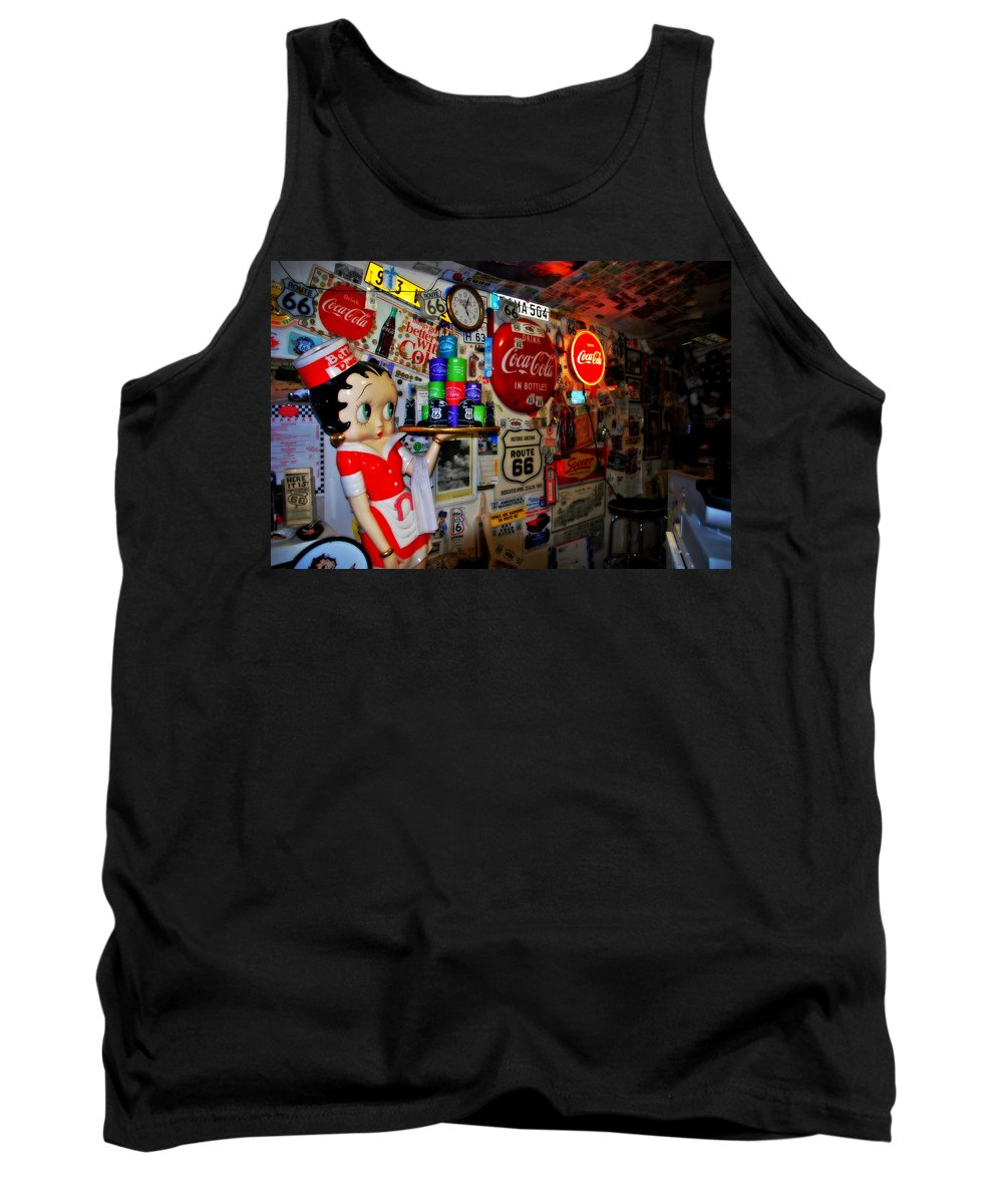 Route 66 Tank Top featuring the photograph All The Souvenirs Of Route 66 by Susanne Van Hulst