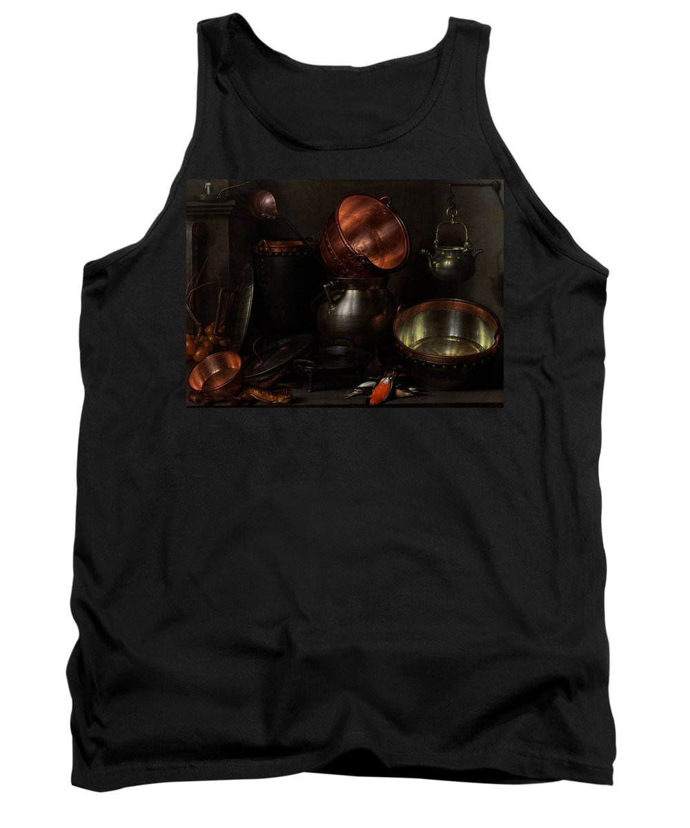 Still Tank Top featuring the painting Allegory Of The Four Elements by Cornelis Jacobsz Delff