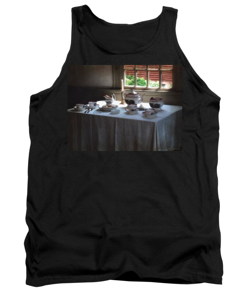 Americana Tank Top featuring the painting Almost Tea Time by RC DeWinter
