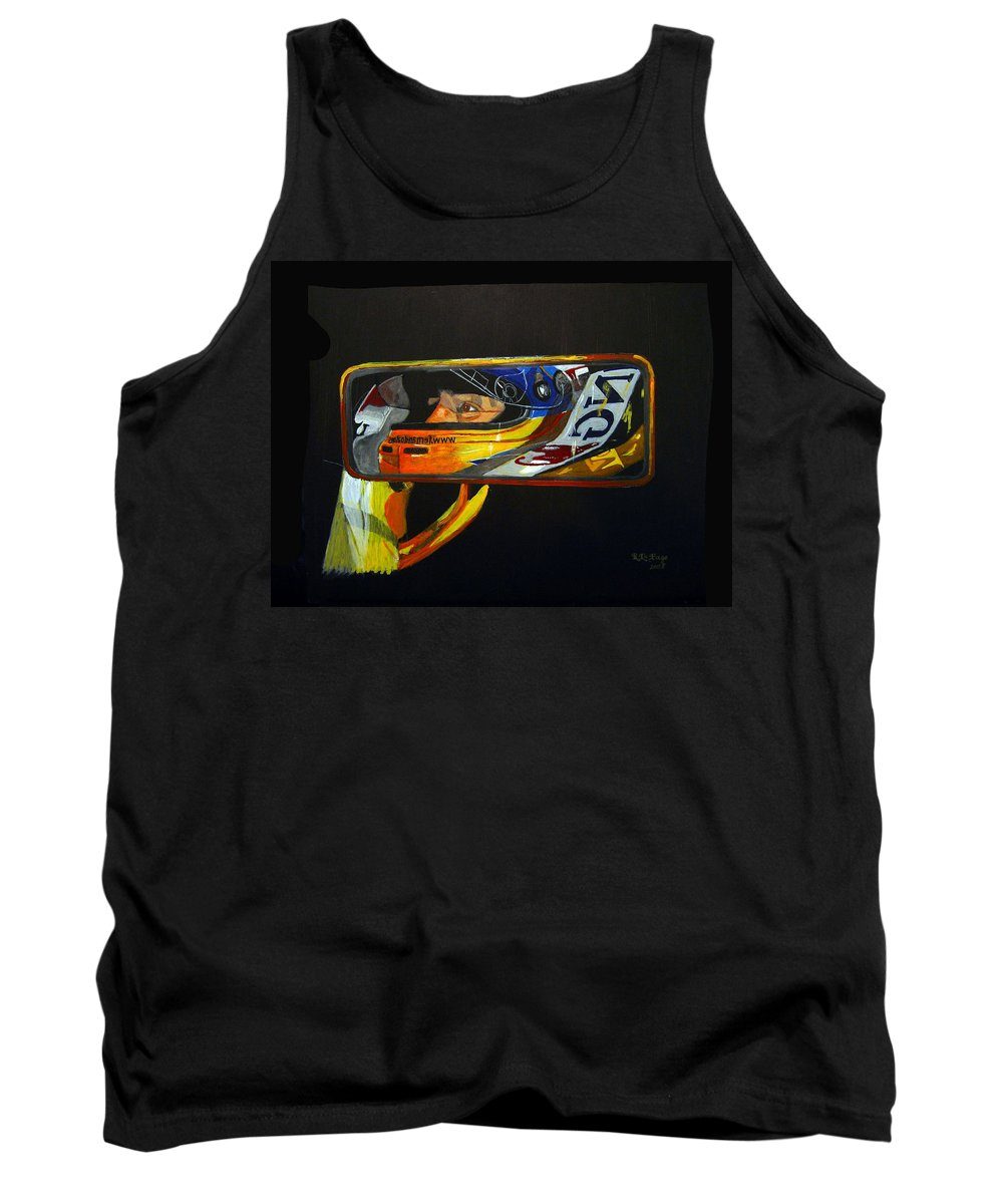Alonso Tank Top featuring the painting Alonso by Richard Le Page