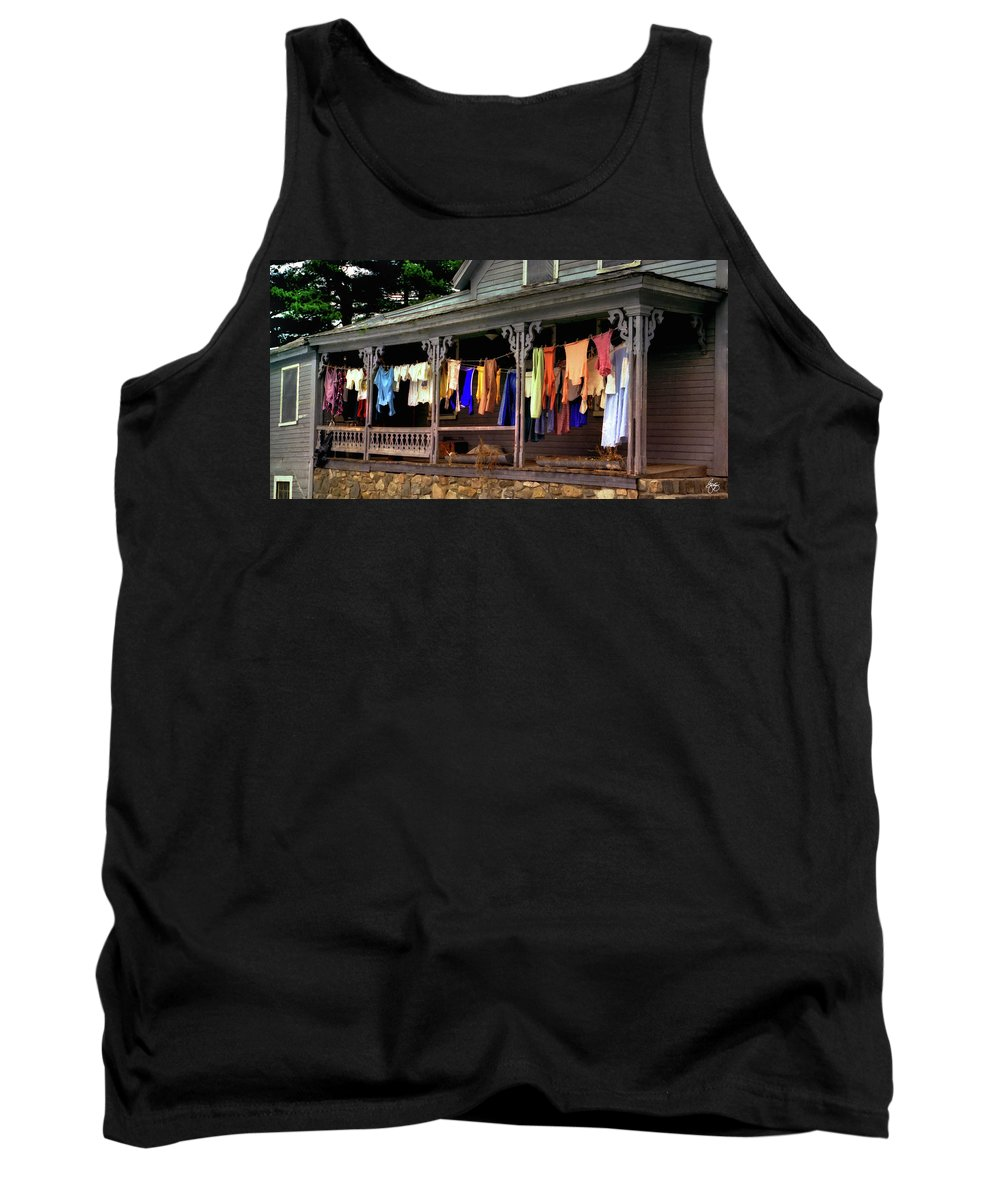 Alton Tank Top featuring the photograph Alton Washday Revisited by Wayne King