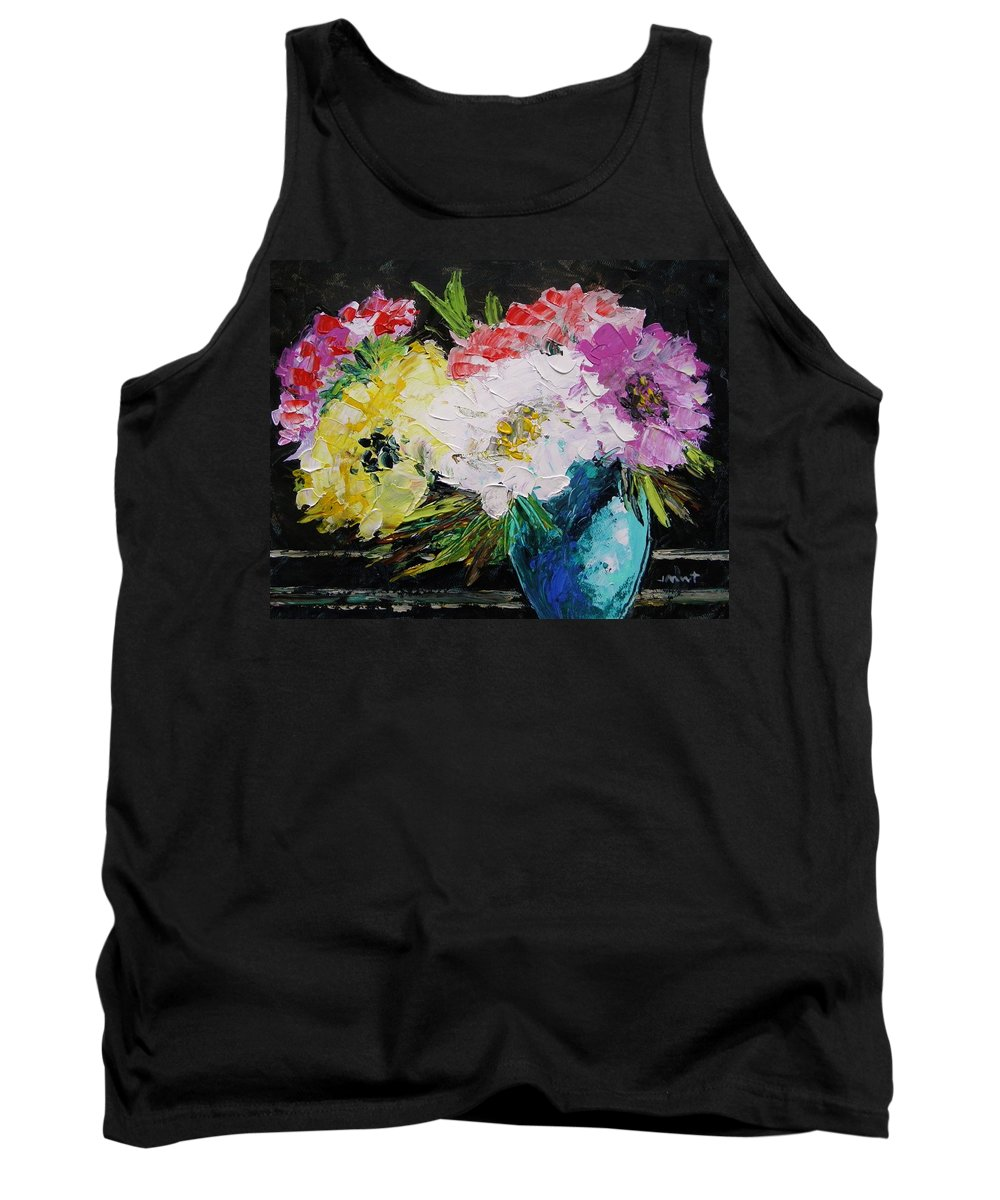 Flowers Tank Top featuring the painting Always Nice To Come Home To by John Williams