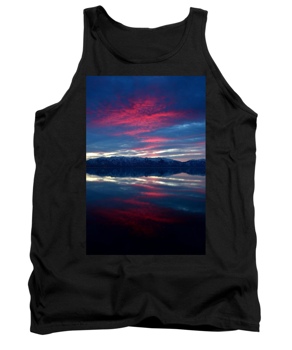 Landscape Tank Top featuring the photograph A.m. On Antelope Island by Michael Morse