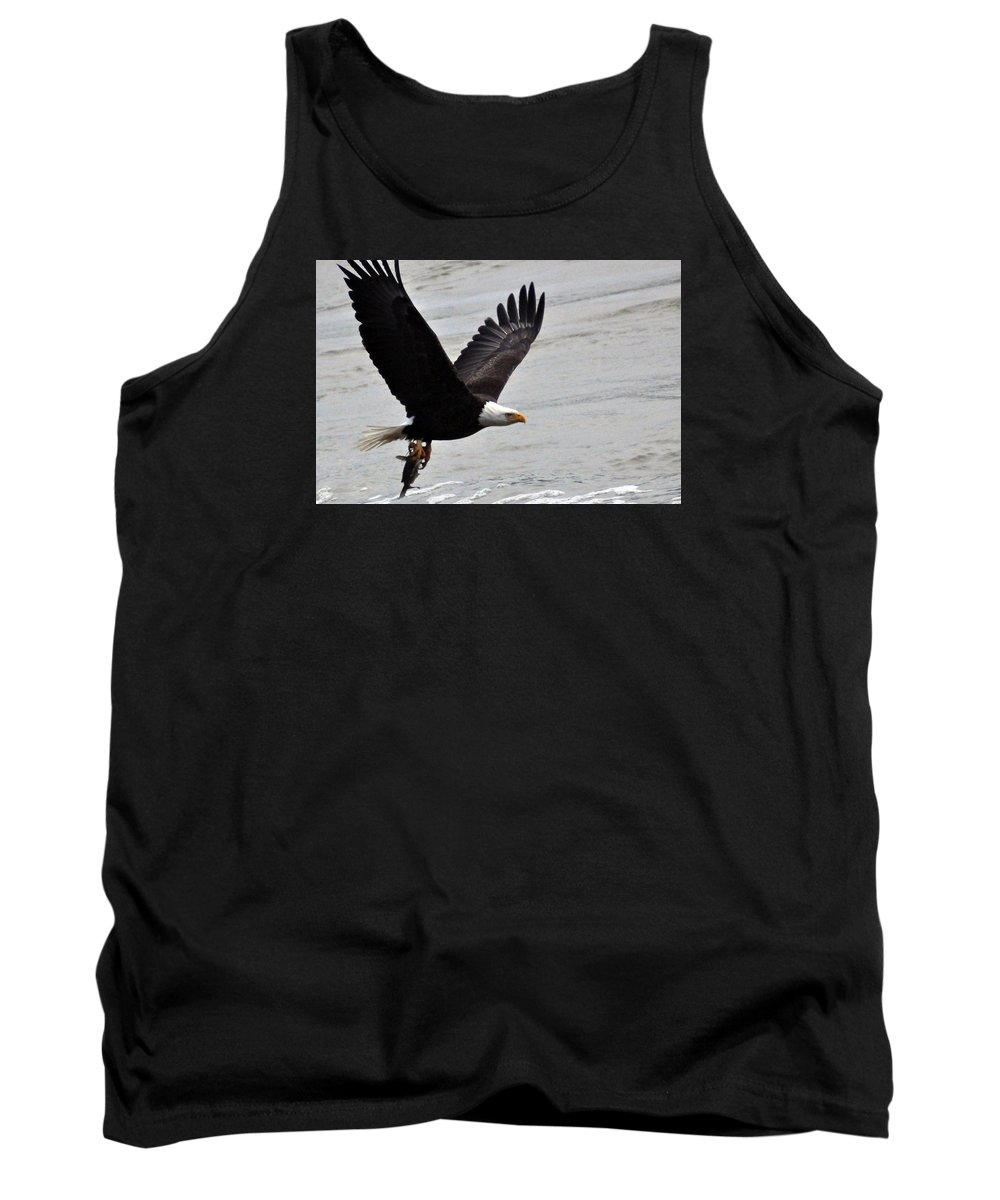American Bald Eagle Tank Top featuring the photograph American Bald Eagle by Darin Bokeno
