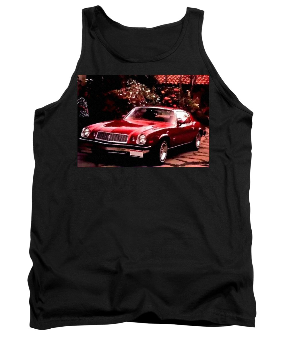 Announcement Tank Top featuring the photograph American Dream Cars Catus 1 No. 1 H B by Gert J Rheeders