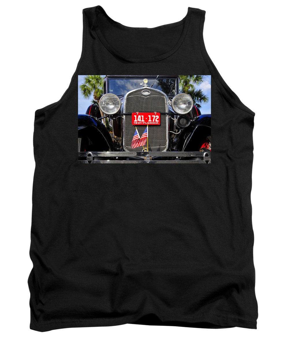 Ford Tank Top featuring the photograph American Grill by David Lee Thompson