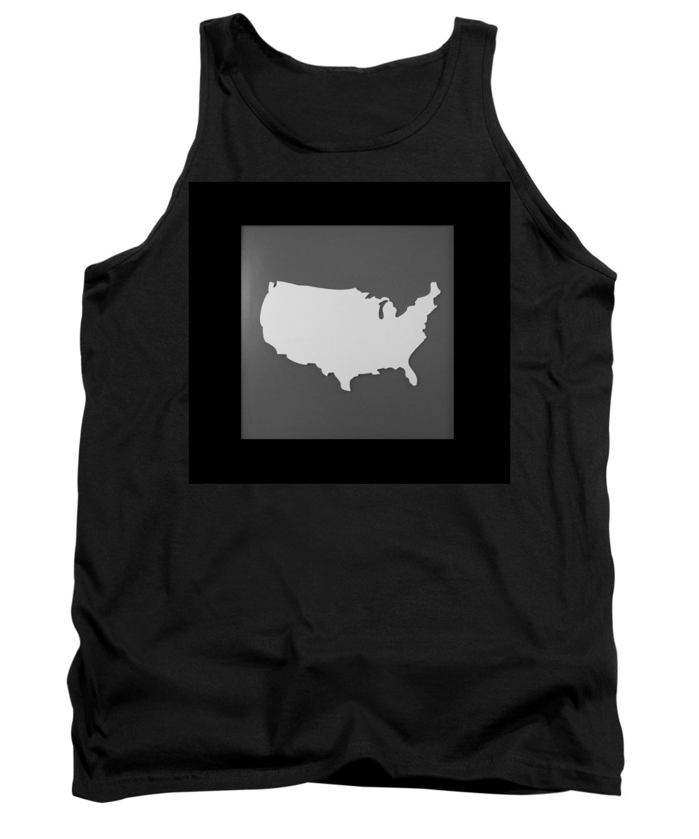 Black And White Tank Top featuring the photograph Amerika by Rob Hans