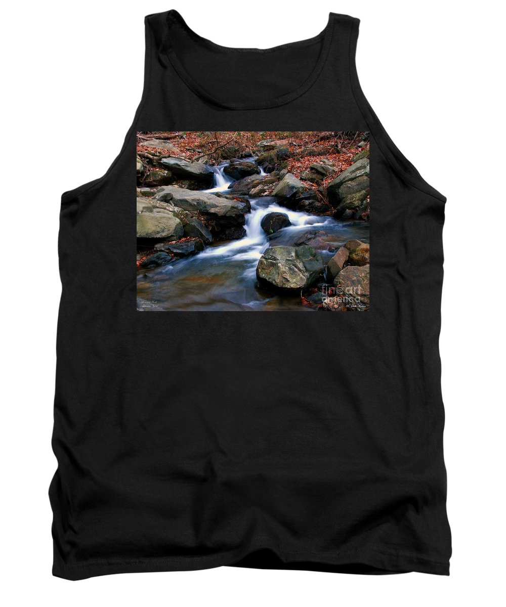 Water Tank Top featuring the photograph Amicalola Stream by Robert Meanor