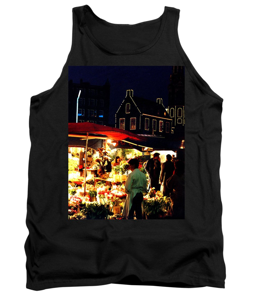 Flowers Tank Top featuring the photograph Amsterdam Flower Market by Nancy Mueller