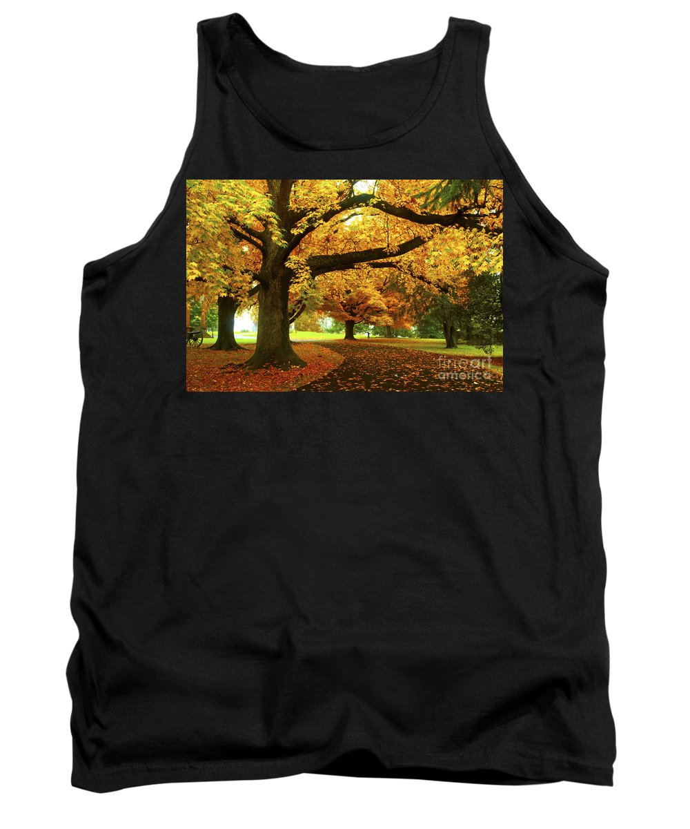 Gettysburg Tank Top featuring the photograph An Autumn Walk Through History by Paul W Faust - Impressions of Light