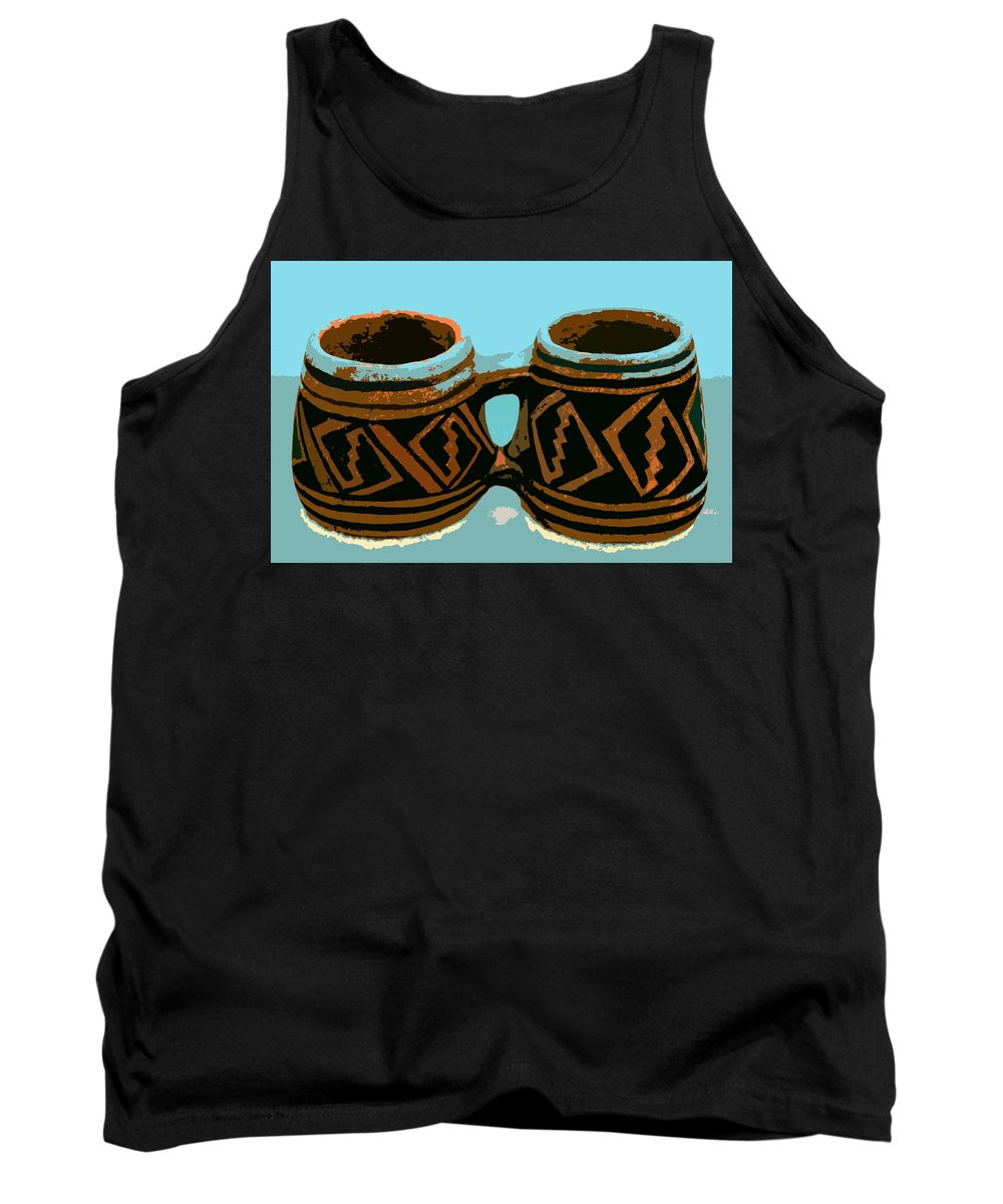 Anasazi Tank Top featuring the painting Anasazi Double Mug by David Lee Thompson