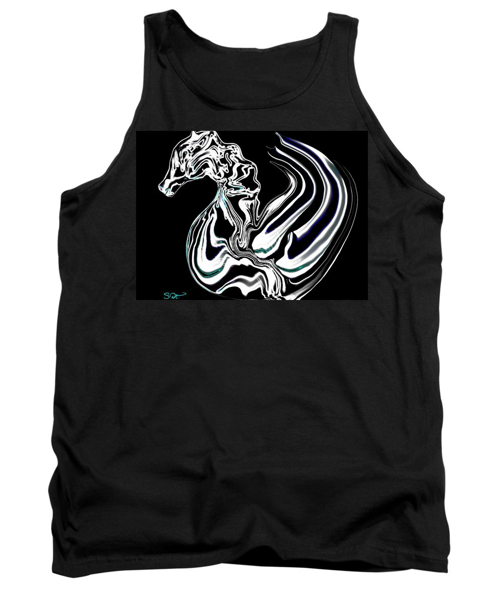 Seahorse Tank Top featuring the digital art Anatomical Study Of The Legendary Pegaseahorse by Abstract Angel Artist Stephen K
