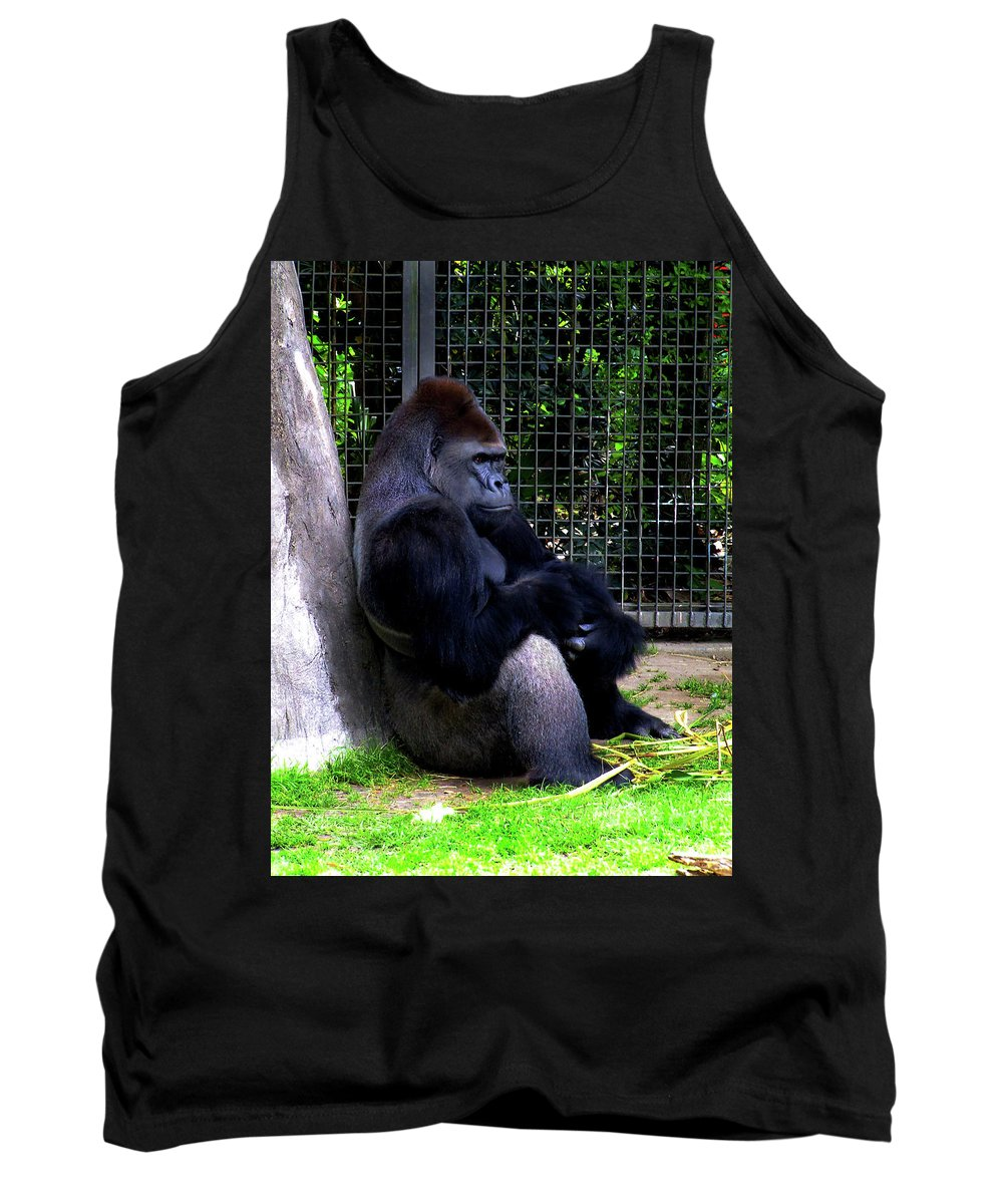 Ape Tank Top featuring the photograph And They Have Me In A Cage by Frances Hattier