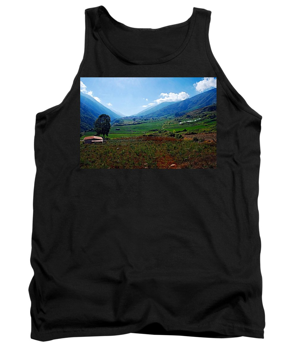 Mountains Tank Top featuring the photograph Andes by Galeria Trompiz