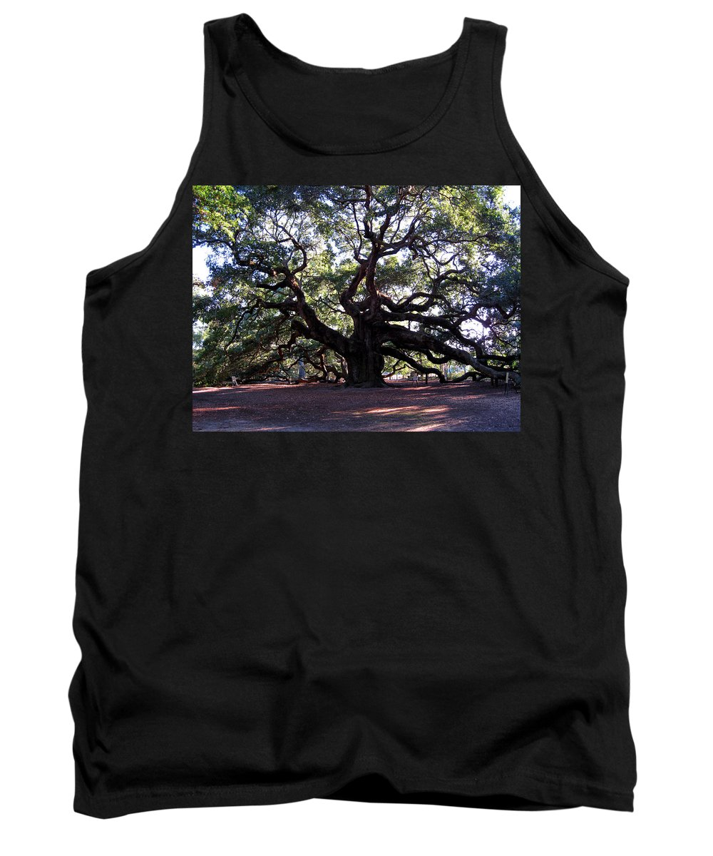 Photography Tank Top featuring the photograph Angel Oak II by Susanne Van Hulst