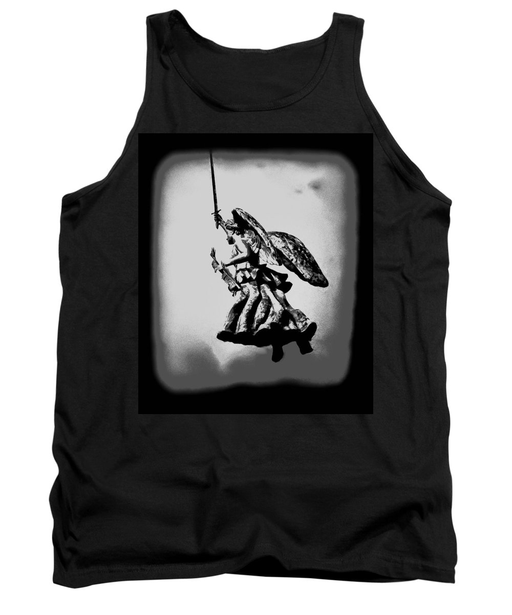 Angel Tank Top featuring the photograph Angel Of Gettysburg by Bill Cannon