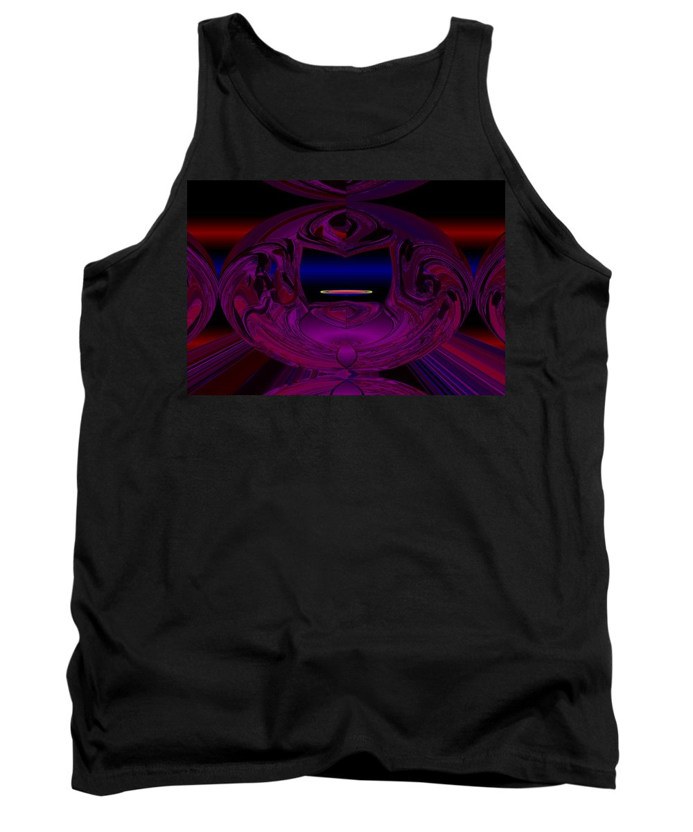 Anti Tank Top featuring the digital art Anti Gravity by XERXEESE Color Schemes