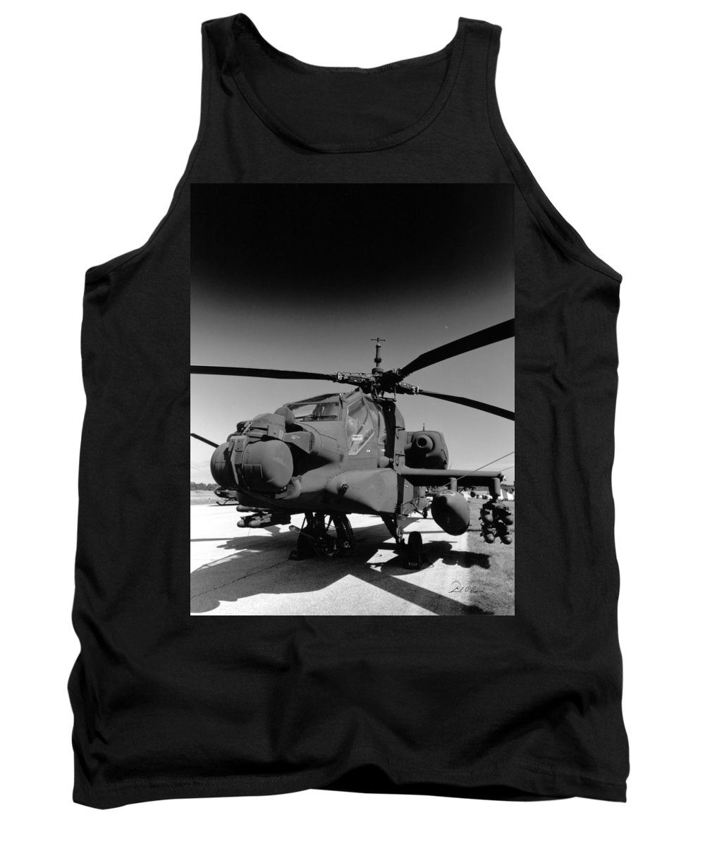 Photography Tank Top featuring the photograph Apache Helicopter by Frederic A Reinecke