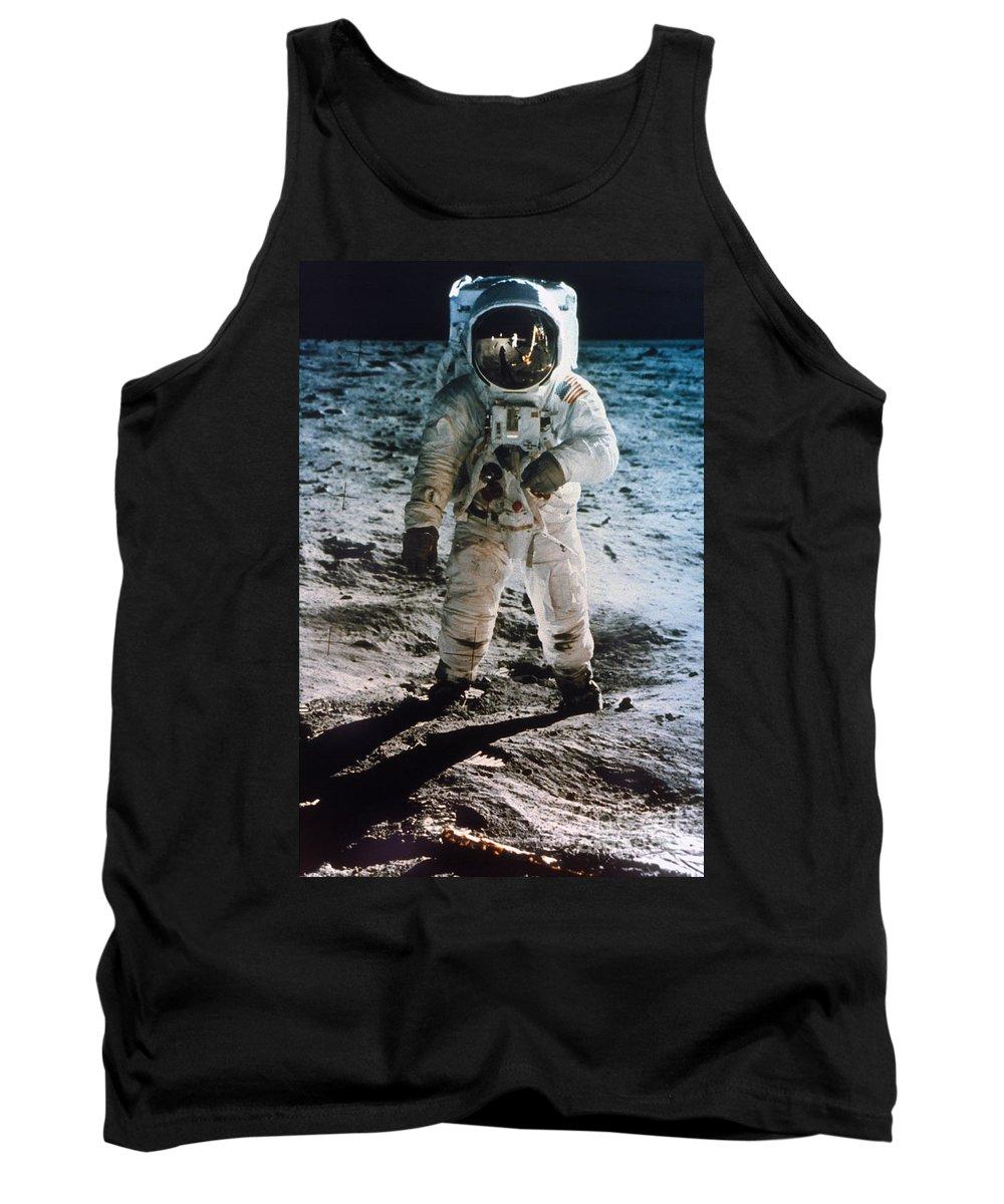 1969 Tank Top featuring the photograph Apollo 11 Buzz Aldrin by Granger