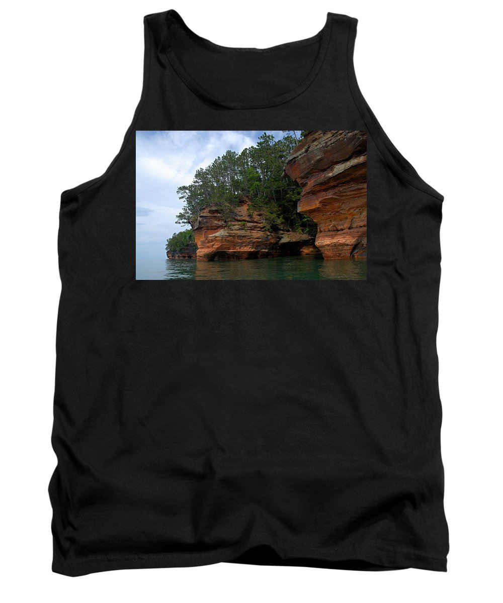 Apostle Islands National Lakeshore Tank Top featuring the photograph Apostle Islands National Lakeshore by Larry Ricker