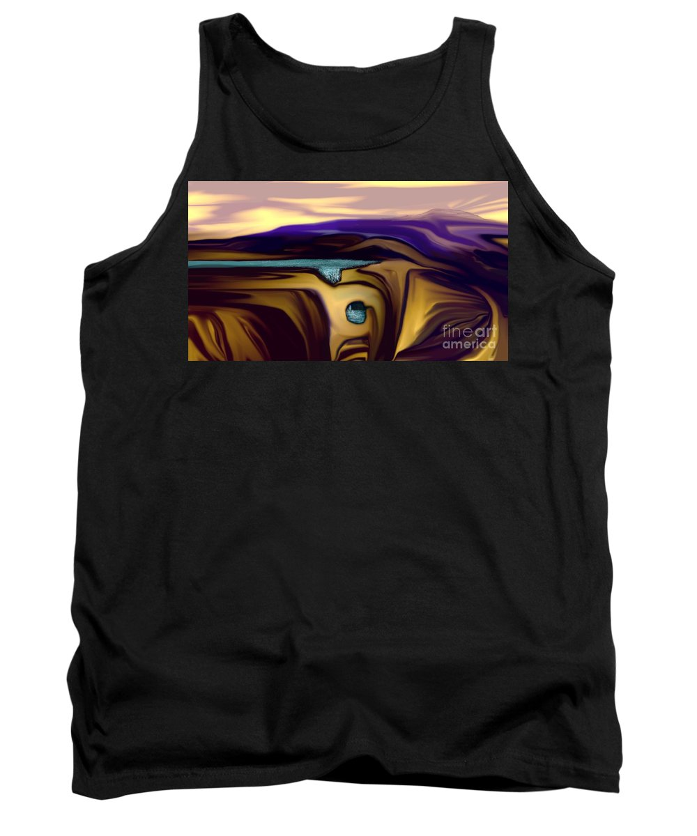 Abstract Tank Top featuring the digital art Aquifer by David Lane