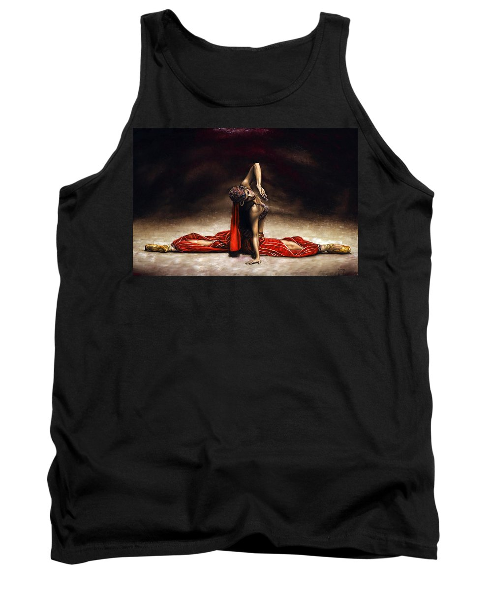 Ballerina Tank Top featuring the painting Arabian Coffee by Richard Young