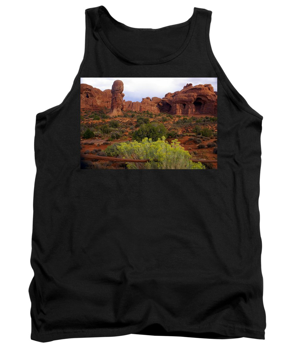Southwest Art Tank Top featuring the photograph Arches Park 1 by Marty Koch