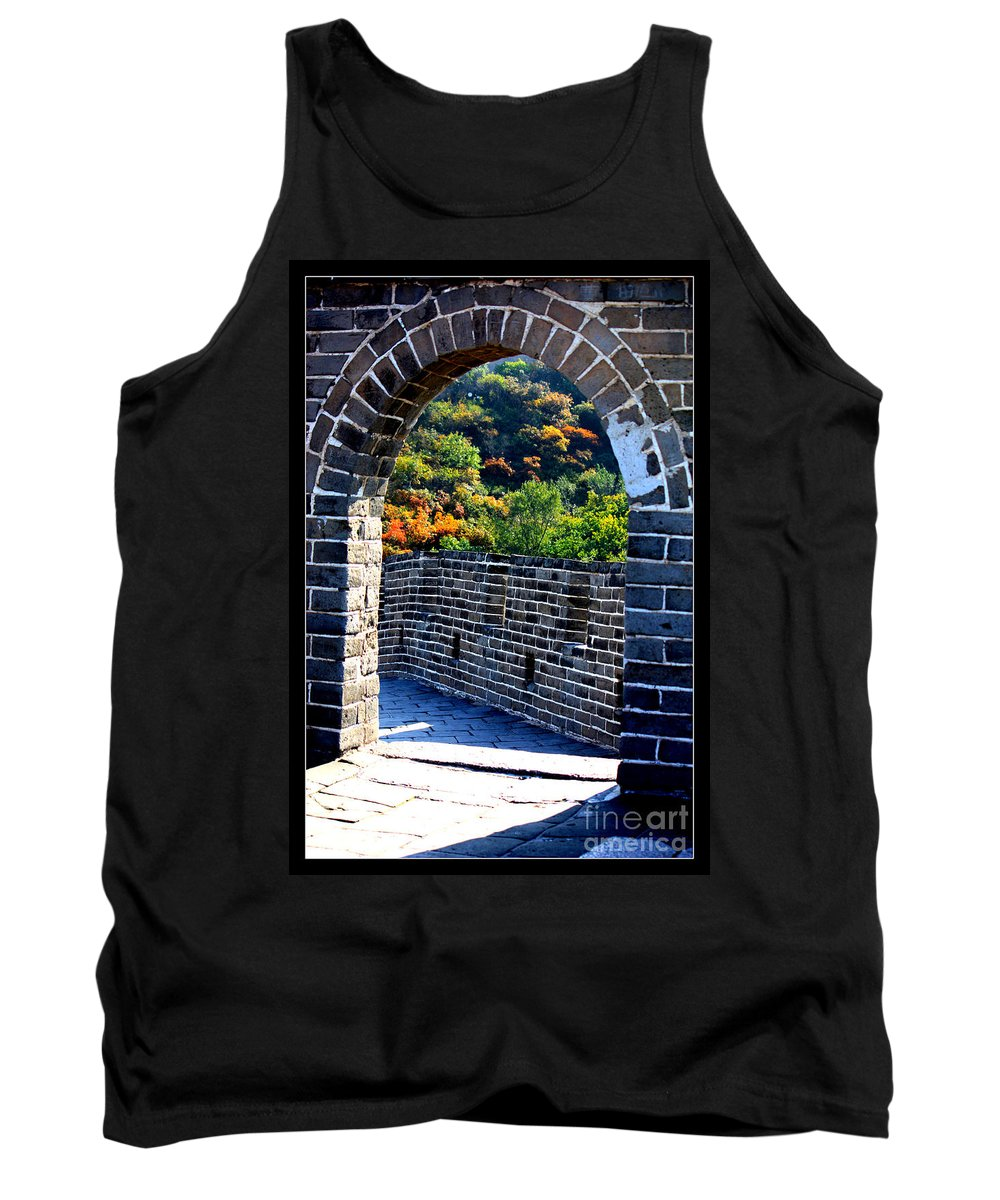 The Great Wall Of China Tank Top featuring the photograph Archway To Great Wall by Carol Groenen