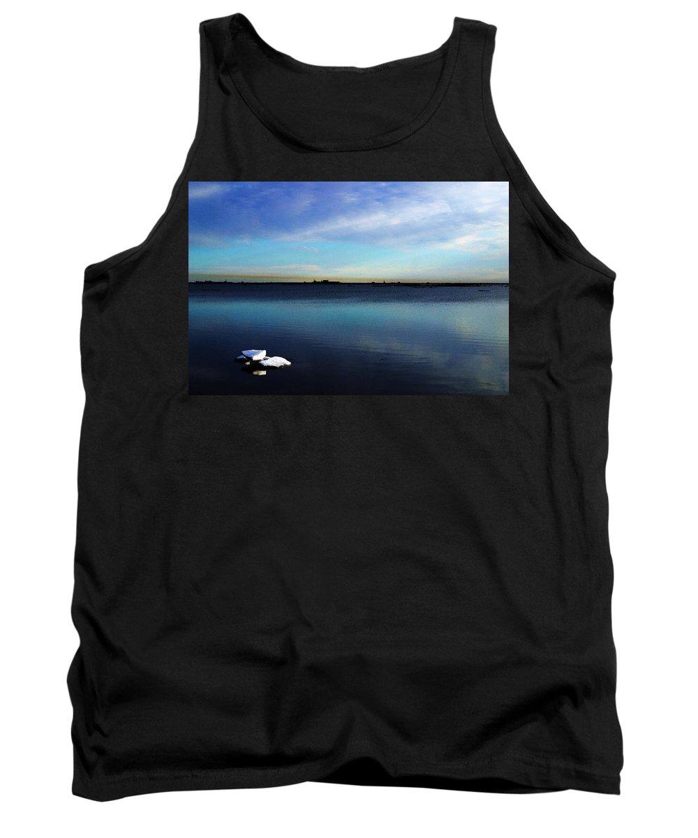 Digital Art Tank Top featuring the digital art Arctic Ice by Anthony Jones