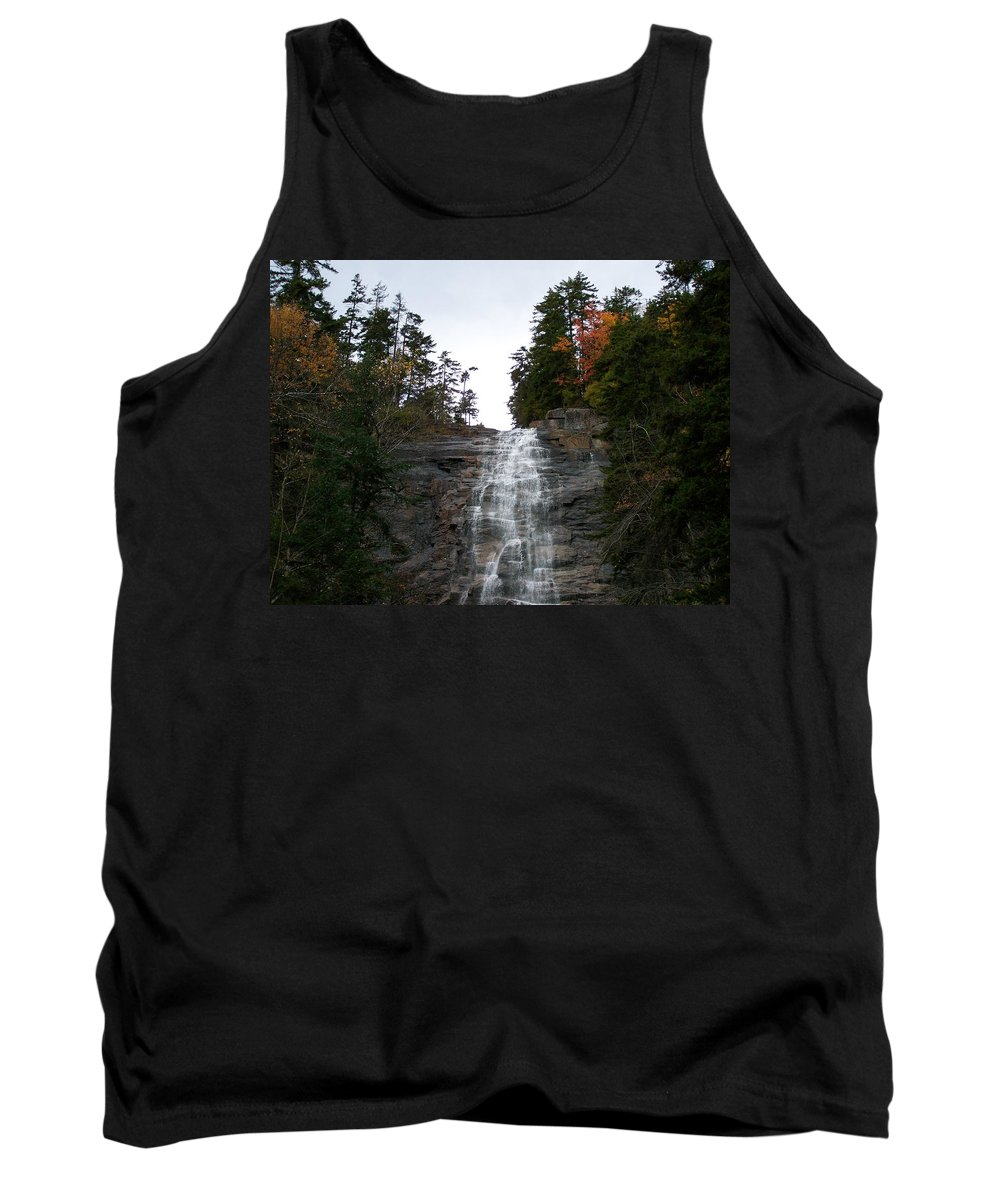 Waterfall Tank Top featuring the photograph Arethusa Falls 2 by Erin Rosenblum