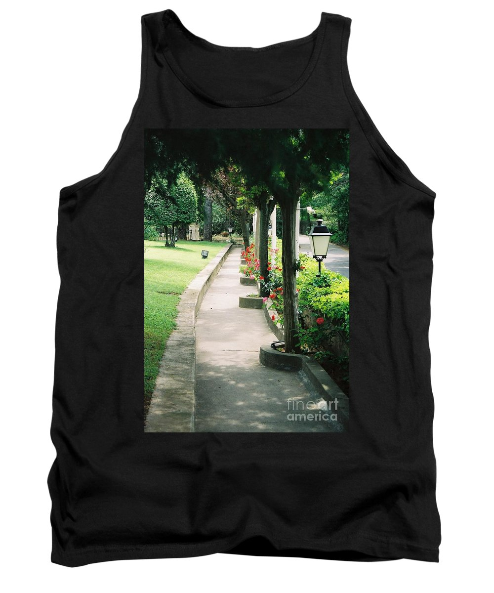 Arles Tank Top featuring the photograph Arles Walkway by Nadine Rippelmeyer