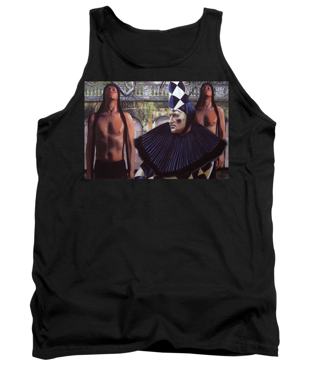 Male Figurative Tank Top featuring the painting Arousing Suspicion by Denny Bond