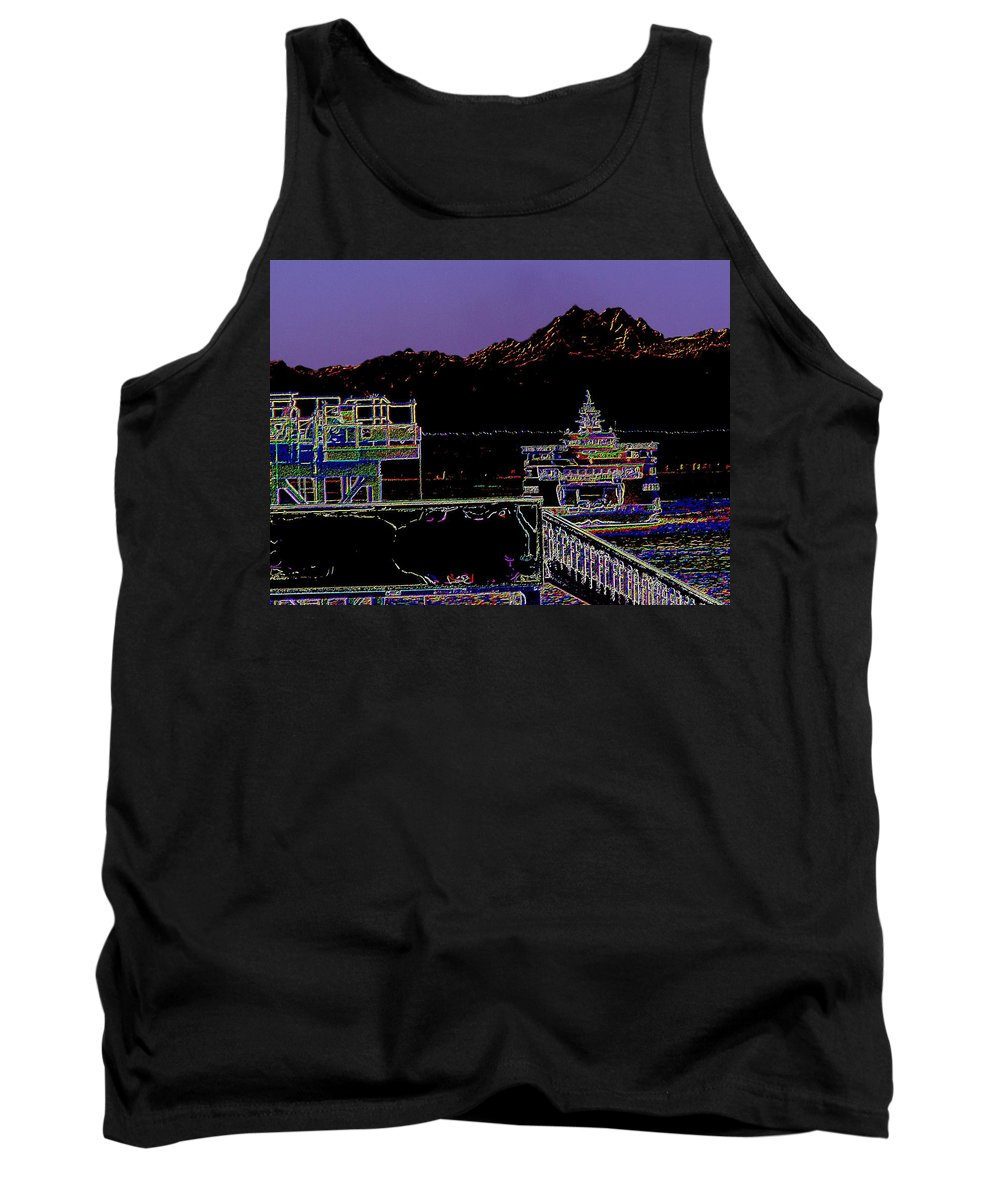 Seattle Tank Top featuring the photograph Arrival by Tim Allen