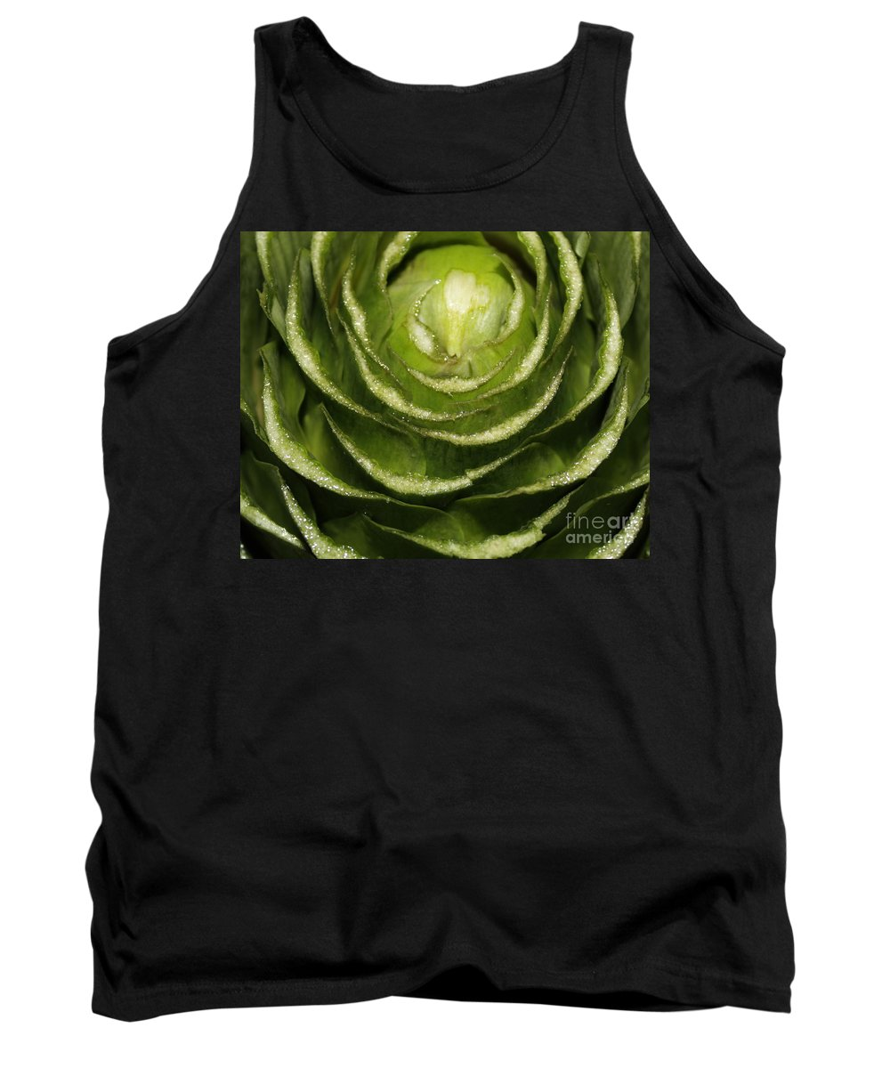 Veggies Tank Top featuring the photograph Artichoke Close-up by Carol Groenen