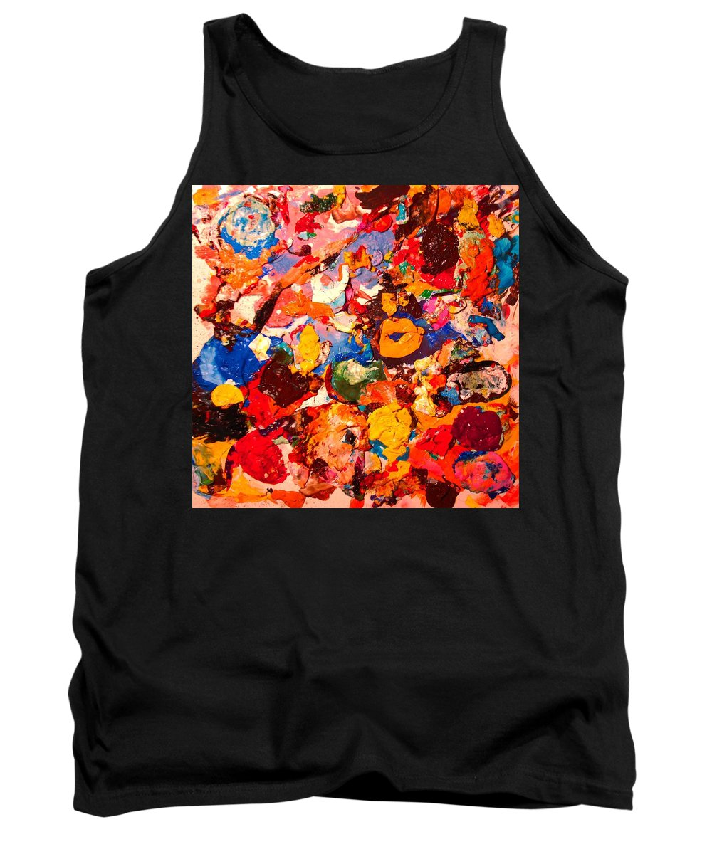 Artist Palette Tank Top featuring the painting Artist Palette by Natalie Holland