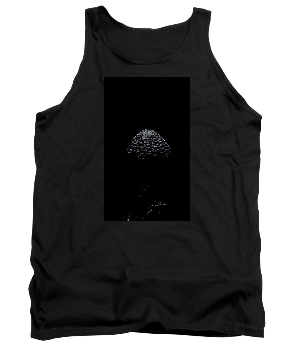 Artistic Tank Top featuring the photograph Artistic Parasol Mushroom 3 by Leif Sohlman