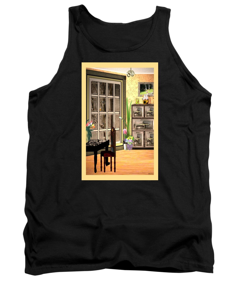 Surrealism Tank Top featuring the digital art Country Dinning by Listen LeeMarie