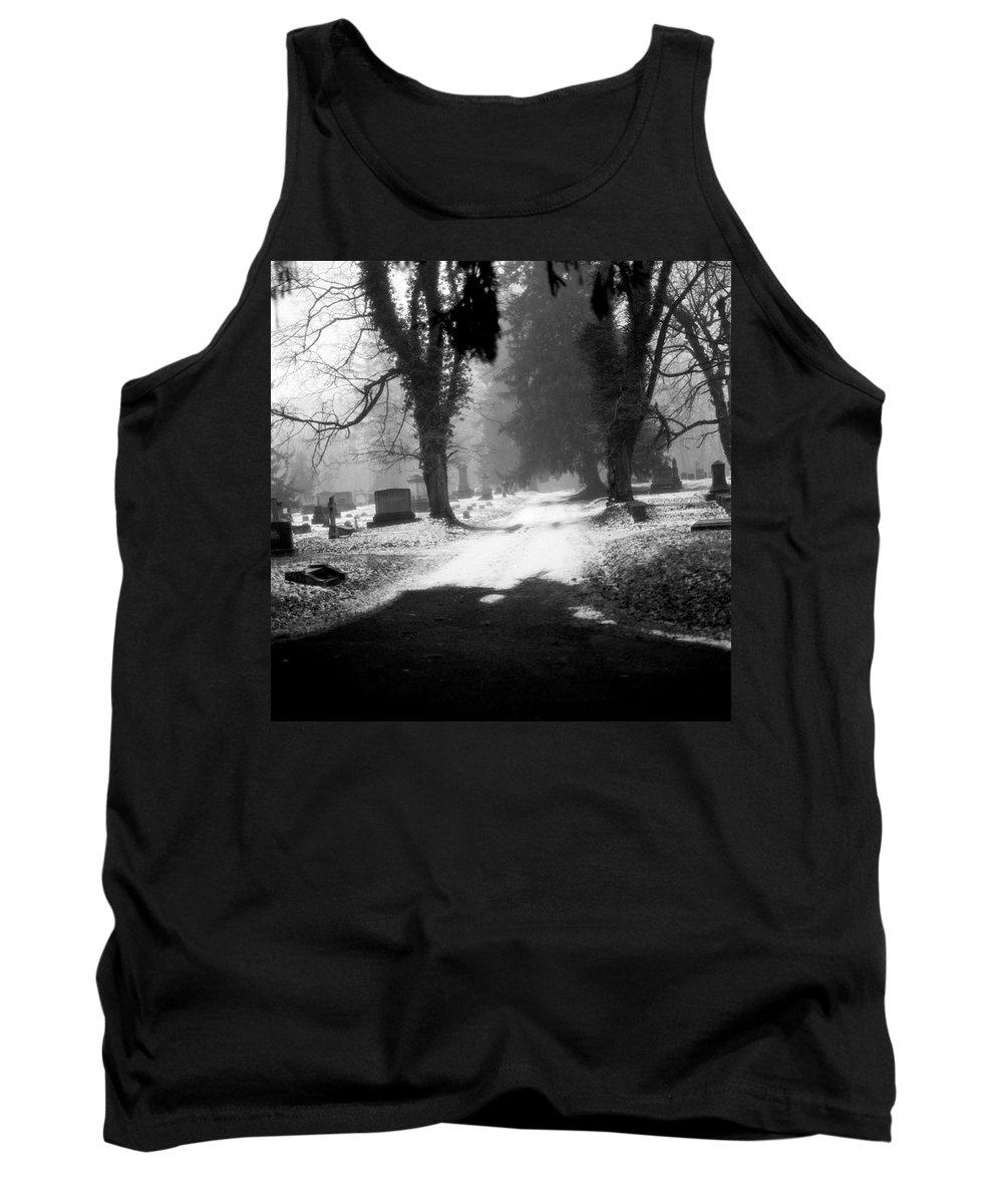 Photograph Tank Top featuring the photograph Ashland Cemetery by Jean Macaluso