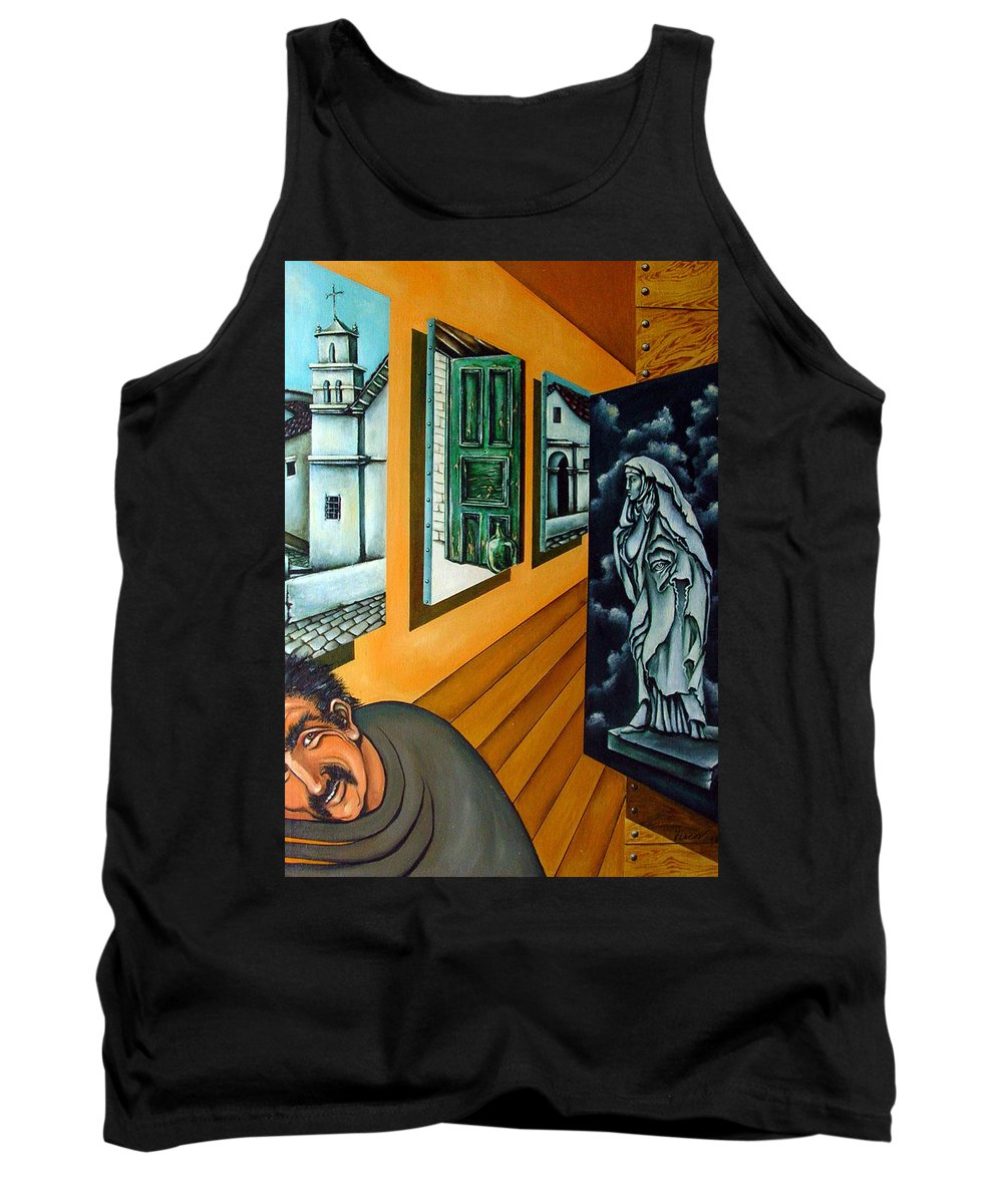 Surreal Tank Top featuring the painting Asylum by Valerie Vescovi